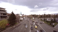 View on road traffic in Tbilisi, Georgia Stock Footage