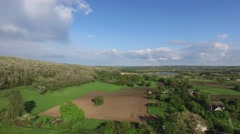 Sunny day after a storm in the countryside Stock Footage