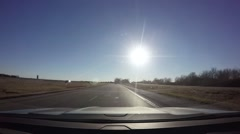 Afternoon Driving Time Lapse 3 Stock Footage