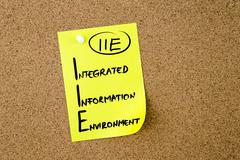 Business Acronym IIE Integrated Information Environment - stock photo