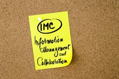 Business Acronym IMC Information Management and Collaboration - stock photo