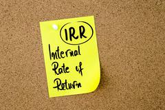 Business Acronym IRR Internal Rate Of Return - stock photo