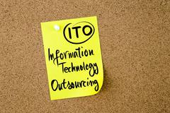 Business Acronym ITO Information Technology Outsourcing - stock photo