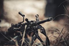 military weapon machine gun - stock photo
