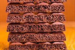 porous chocolate closeup - stock photo