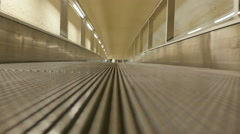 Low angle shot of empty moving walkway Stock Footage