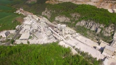 Flight over old lime works. Stock Footage