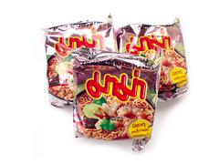 Mama Tomyum Favour instant noodles. Mama is a popular brand in Thailand - stock photo