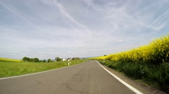 On-board-camera P.O.V. - Driving in rural region of Germany (EIFEL) Stock Footage