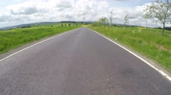 4K POV video footage of driving in rural region of Germany Stock Footage