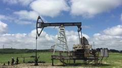 Oil pump in Georgia HD Stock Footage