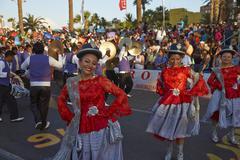 ARICA, CHILE - JANUARY 23, 2016: Morenada Dancers at the Carnaval Andino. - stock photo