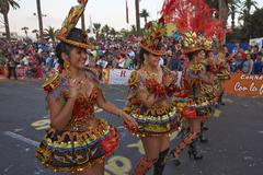ARICA, CHILE - JANUARY 23, 2016: Morenada Dancer at the Carnaval Andino. - stock photo