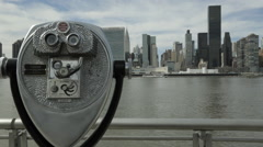 NYC Skyline Motion Time Lapse Stock Footage
