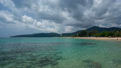 Cloudy Sky and Azure Water On Karon Beach, Phuket, Time Lapse - stock footage