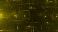 digital data technology numbers backgorund LOOP Top wiev Yellow - stock footage