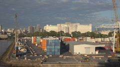 Buenos Aires container port, Argentina, dolly shot - stock footage