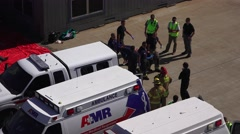 Evacuation of injured, MOCK DISASTER , Stock Footage