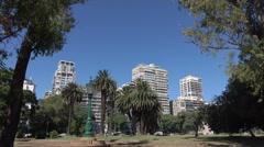 Buenos Aires, buildings along Avenida Libertad, Argentina - stock footage