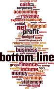 Bottom line word cloud Stock Illustration