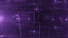 digital data technology numbers backgorund LOOP Top wiev violet - stock footage