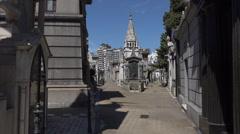 Buenos Aires, La Recoleta cemetery, Argentina Stock Footage