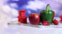 Calorie, Kilograms, Sport diet Stock Footage