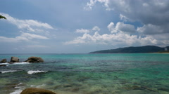 View From Karon Beach, Phuket. Time Lapse Stock Footage