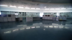 4K Interior view of large power plant control room. No people Stock Footage