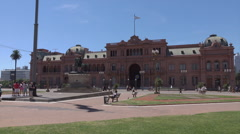 Buenos Aires, Casa Rosada, Plaza de Mayo, Argentina Stock Footage