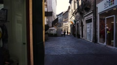 Street corner on the town Stock Footage