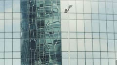 Building in reflection Stock Footage