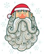 Santa Portrait - stock illustration