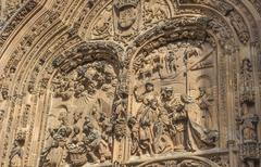 Architectural details of New cathedral in Salamanca, Spain - stock photo