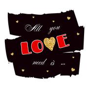 All you need is love gold - stock illustration