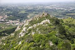 Moorish Hill Fortress In Sintra - stock photo