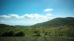 Tuscan valley timelapse Stock Footage