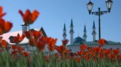 Kul sharif mosque in kazan Stock Footage