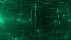 Digital data technology numbers backgorund LOOP bottom wiev green Stock Footage