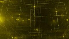 Digital data technology numbers backgorund LOOP bottom wiev yellow Stock Footage