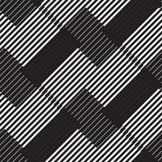 Black and white stripe geometric vintage design pattern - stock illustration
