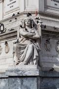 Statue of Dom Pedro IV at Rossio Square, Lisbon, Portugal Stock Photos