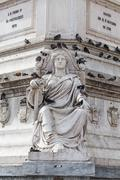 Statue of Dom Pedro IV at Rossio Square, Lisbon, Portugal Stock Photos