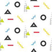 Memphis retro 80s seamless pattern - stock illustration
