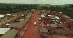 Africa Aerial Ghana aframso back track 4K Stock Footage