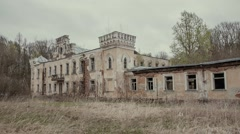 An abandoned old mansion in the depths of Russia Stock Footage