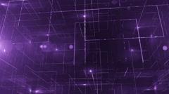 digital data technology numbers backgorund LOOP bottom wiev violet - stock footage