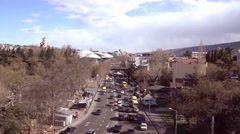Georgia. View of road traffic in sunny spring day Stock Footage