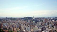 Aerial downtown from Santa Teresa neighbourhood Rio de Janeiro Stock Footage