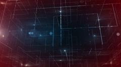 digital data technology numbers backgorund LOOP bottom wiev Red-Blue - stock footage